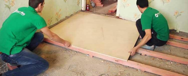 Пол из фанеры по лагам своими руками - пошаговая инструкция от подготовки до монтажа