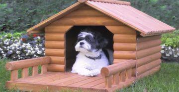 будка для собаки из досок